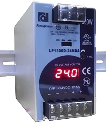 REIGNPOWER LP1300D-24MDA 300W 24VDC 12A Din Rail Power Supply Voltage Monitor Display