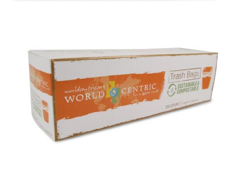 World Centric 3 Gallon Compostable Bags - 25-Count