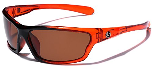 Polarized Wrap Around Sport Sunglasses - - Orange Sunglasses Cheap
