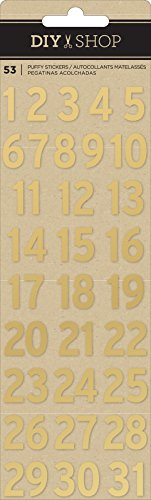 scrapbooking numbers gold - 1