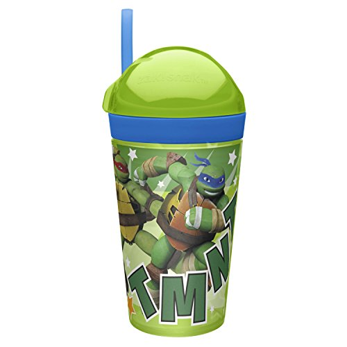 Zak Designs zak!snak Holds 4 oz. Snack and 10 oz. Drink, Ninja ()