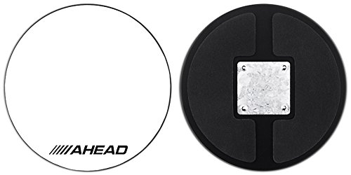 Ahead Drum Corp Practice Pad with Snare Sound White Hard Surface 10 (Ahead Drum)