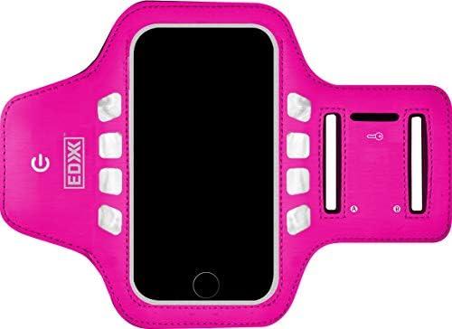 [해외]EDX 러닝 암밴드 폰 홀더 남성 및 여성용 LED 유무 아이폰과 갤럭시 스마트폰과 호환 가능 / EDX 러닝 암밴드 폰 홀더 남성 및 여성용 LED 유무 아이폰과 갤럭시 스마트폰과 호환 가능