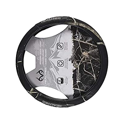 Realtree Camo Steering Wheel Cover, AP Black, Truck: Clothing