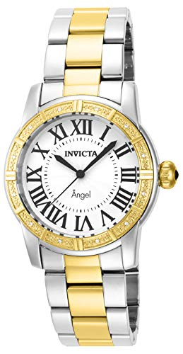 - Invicta Women's 14376 Angel Silver Dial Diamond-Accented Two-Tone Stainless Steel Watch