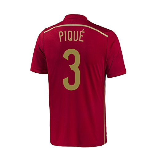 adidas Pique #3 Spain Home Jersey World Cup 2014 Youth. (YXL) Red