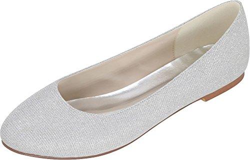 5 Nice Compensées Femme Sandales 36 Argenté Silver EU Find vwnx0w