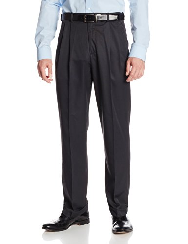 [Geoffrey Beene Men's Performance Microfibre Mini Texture Dress Pant with Extender Waist, Navy, 36x30] (Microfibre Dress)