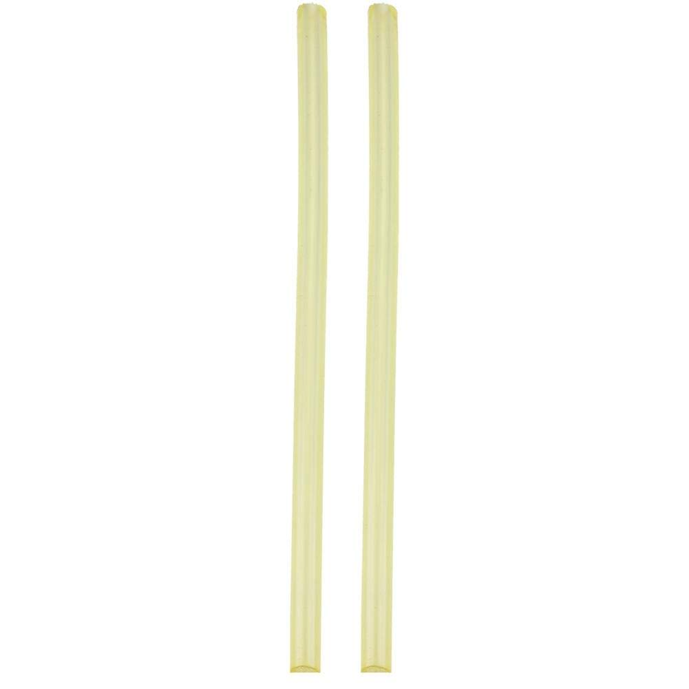 Elastic Rubber Round Spring Bar Stick Polyurethane Hollow Rod 20-40mm OD 8mm Bore 500mm Long, Yellow(#01) by Garosa