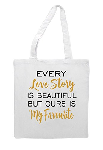 Shopper But Favourite Story Beautiful Bag My Ours Love Wedding Is Engagement Party Gift White Tote Every x6Ig0HW