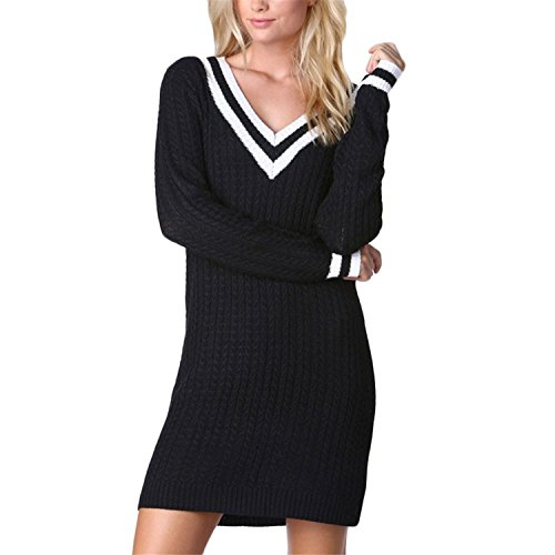 ainrving-womens-long-sleeve-simple-casual-solid-dresses-black0