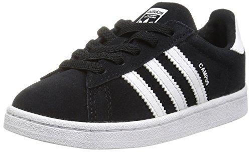 adidas Originals Boys' Campus EL I Sneaker, Black/White/White, 9 Medium US Toddler
