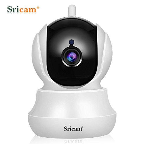 Sricam 720P HD Wireless Security Camera,WiFi Video Security IP Camera with Motion Detection Two Way Audio Night Vision Indoor Pan/Tilt/Zoom Home Security Camera for Baby Elder Pet with IOS/Android APP