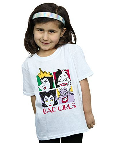 Disney Girls Villains Bad Girls T-Shirt White 5-6 -