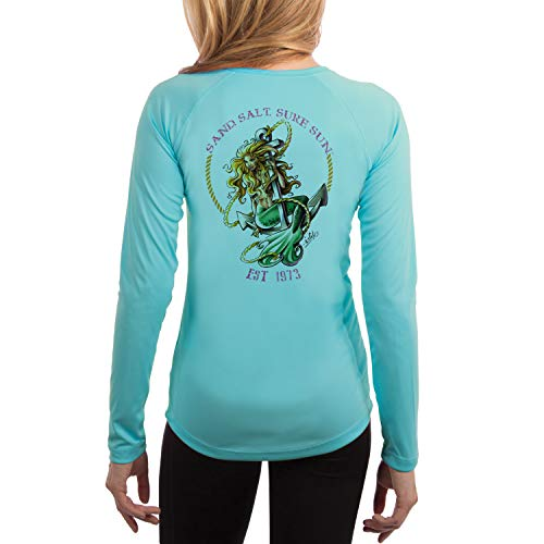 Mermaid Women's UPF 50+ Long Sleeve T-Shirt Small Water Blue