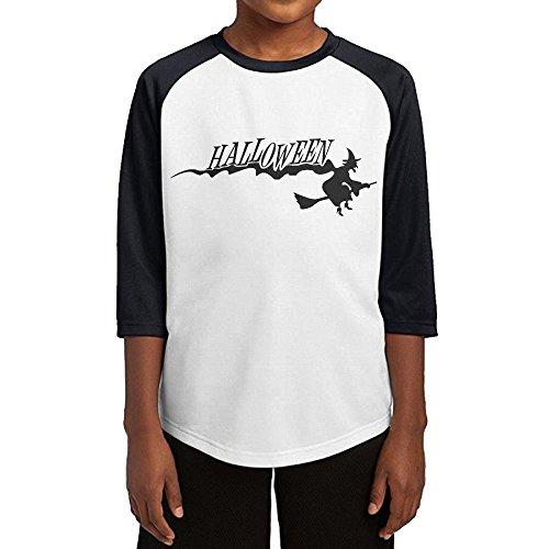 Aishan Happy Halloween Teenage Casual Sports 3/4 Sleeves Raglan T Shirts S