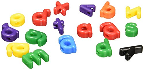 Roylco Lowercase Letter Bead, Assorted Colors, Pack of -