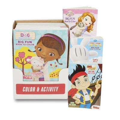 Amazon.com: New 212929 Coloring Bk Disney 4Asst Licen (24 ...
