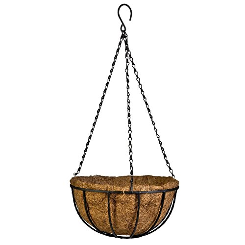 Mecai Hanging Basket Planter with Chain Flower Plant Pot Home Garden Balcony Decoration-8 inch Coco Hanging