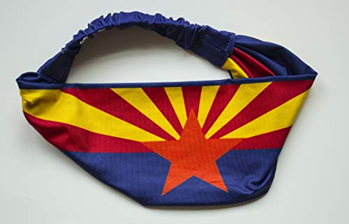 International Tie Arizona Flag Headband. Perfect for Yoga Outdoor Activities, Workout Travel Designer Style & Quality by International Tie