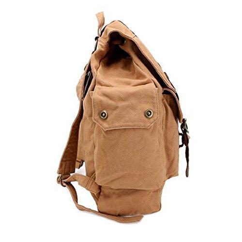LJ&L Mochila de lona de algodón, viaje de senderismo mochila de deportes de montaña, mochila de ocio general de hombres y mujeres,A,18-25L A