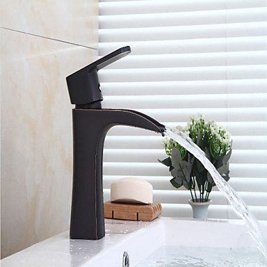 YZL Contemporary Centerset Waterfall with Ceramic Valve Single Handle One Hole for Oil-rubbed Bronze , Bathtub Faucet