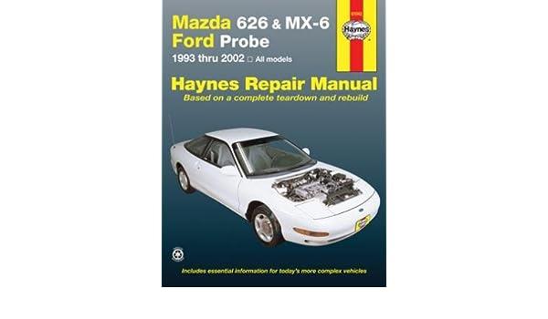 amazon com mazda 626 mx 6 ford probe haynes repair manual rh amazon com 1996 Ford Probe 1989 Ford Probe