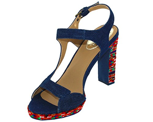Desigual Schuhe - Shoes_marilyn Etnische Denim 18sssd02 Kollektion 2018 (36)