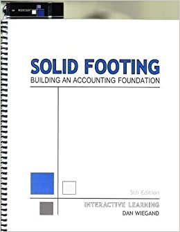 Solid footing building an accounting foundation interactive solid footing building an accounting foundation interactive learning dan wiegand 9780979671036 amazon books fandeluxe Choice Image
