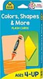 School Zone - Colors, Shapes and More Flash Cards - Ages 4 and Up, Preschool to Kindergarten, Pictures, Numbers, Rhyming Words, Directional Words, Shape Recognition, and More
