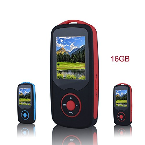 FecPecu Music Player, 16GB Bluetooth MP3 Player, 50 - Mp3 Player Battery Life
