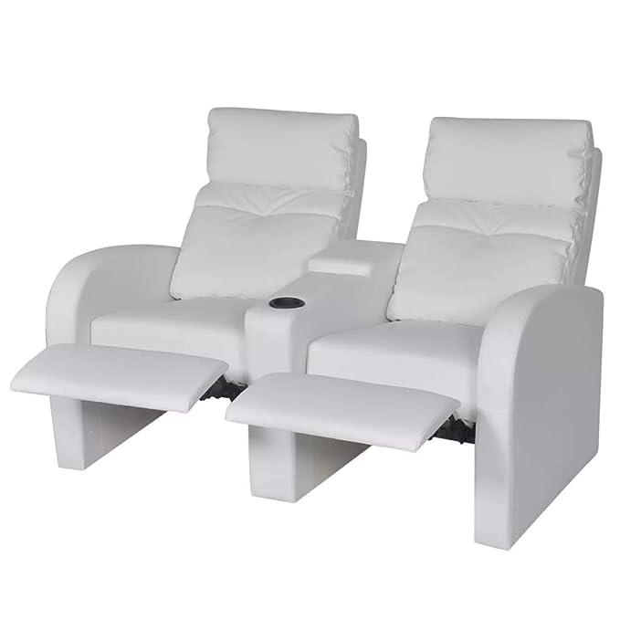 binzhoueushopping Sofá reclinable de 2 plazas de Piel ...
