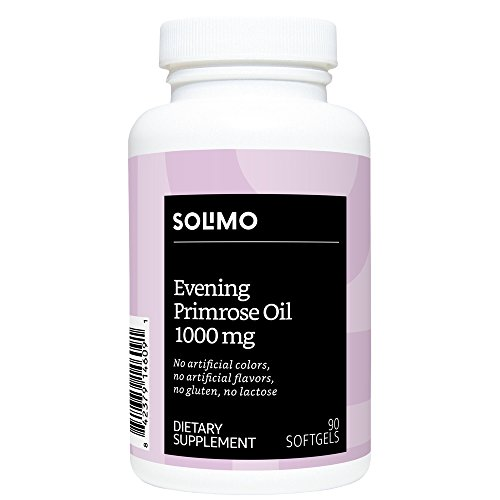 Amazon Brand – Solimo Evening Primrose Oil 1000mg, 90 Softgels, One Month Supply