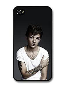 Louis Tomlinson White T-Shirt Tatoo 1D One Direction case for iPhone 5c A1252