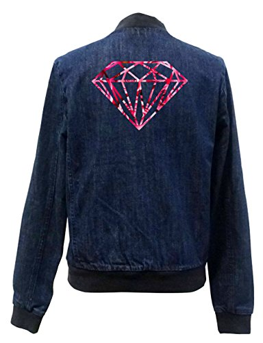 Chaqueta Freak Bomber Certified Diamond Girls Roses Jeans S8wE7Hx