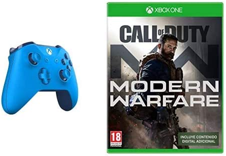 Microsoft - Mando Inalámbrico, Color Azul (Xbox One), Bluetooth + Call of Duty: Modern Warfare: Amazon.es: Videojuegos