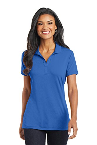 Port Authority Ladies Cotton Touch Performance Polo>XS Strong Blue L568