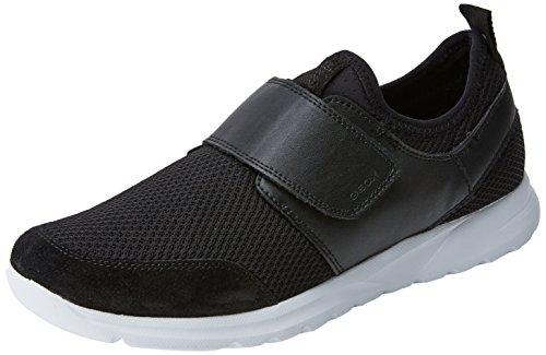 Geox Men's Damian 6 Sneaker, Black, 43 M EU (10 US)