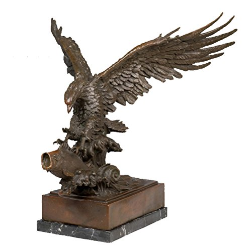 (Toperkin Statue Hand Crafted Golden Eagle Bronze Sculpture Home Dcoration Eagle Bronze Statue Animal Art TPY-681 )