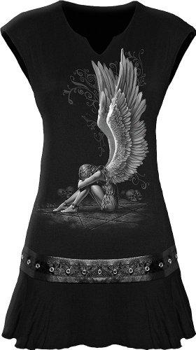Spiral - Womens - Enslaved Angel - Stud Waist Mini Dress Black - ()