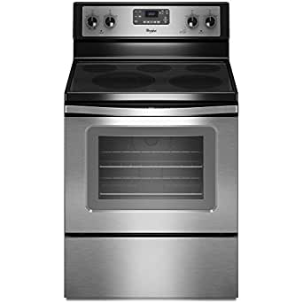 """Whirlpool WFE525C0BS 30"""" Stainless Steel Electric Smoothtop Range - Convection"""
