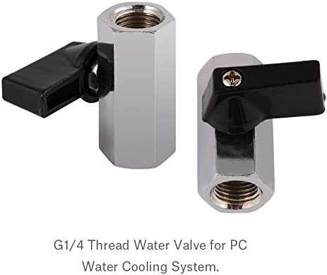 PrinceShop ALLOYSEED brass valve Flat Push Type Valve G1//4 Single Inner internal Thread for Computer PC Water Cooling system