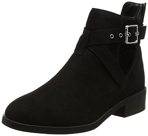 New Look WoMen Wide Foot Bernie Boots Black (Black)