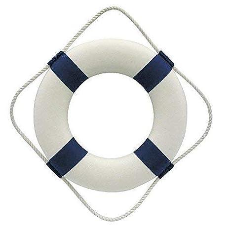 MARÍTIMO salvavidas, Decodificar para aro salvavidas, azul/blanco ø 30cm: Amazon.es: Hogar