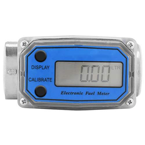 1″ Digital Turbine Flow Meter,Gas Oil Fuel Flowmeter,Pump Flow Meter ,Diesel Fuel Flow Meter,High Accuracy,for Measure Diesel, Kerosene, Gasoline, etc.(Blue)