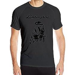 IEFFAT Men's Lamborghini Logo Sport Quick Dry Short Sleeved T Shirts