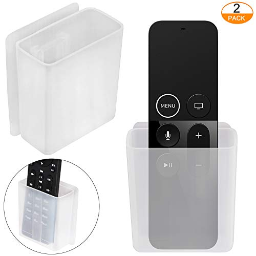 [2 Pack] Universal Remote Control Holder - Pinowu Table and Nightstand Convenient Remote Control Caddy (For Mount Wall Remote Control)