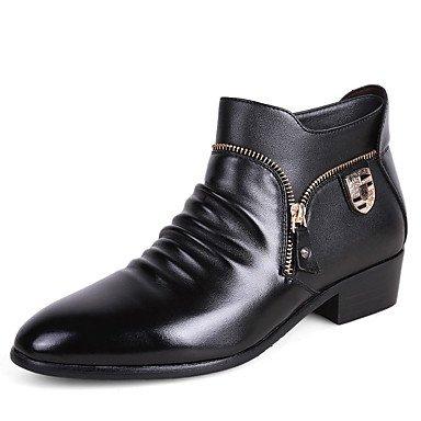 Aiurbag Hommes-bottines-casual-confortable-flat-pu (polyuréthane) -noir