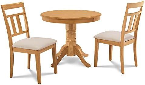 M&D Furniture - Juego de Mesa y sillas de Cocina (3 Piezas ...