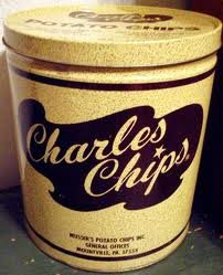 Charles Chips Original Potato Chips 1 Pound Tin